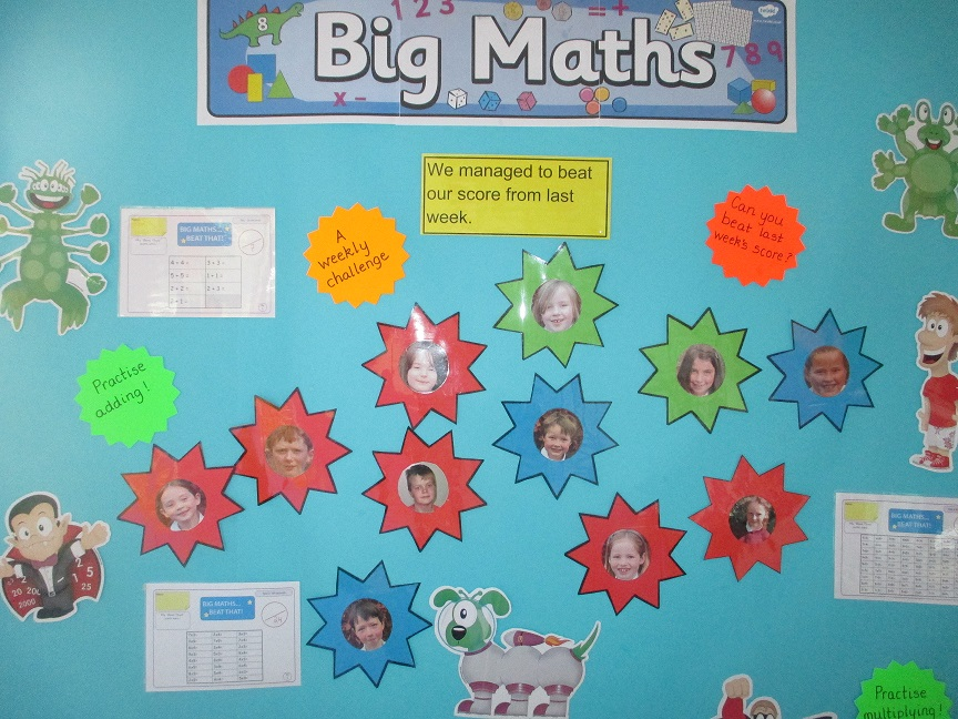 Our Big Maths Wall